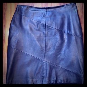 Style& co. Collection leather skirt